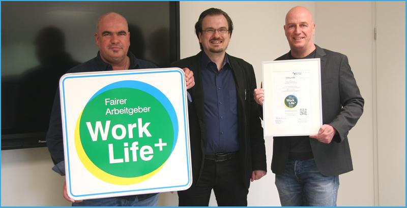 bei Sitron Sensor freut man sich über die erneute Auszeichnung mit dem Work Life Plus Arbeitgebersiegel