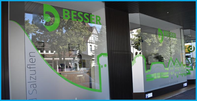Außenaufnahme der repräsentativen Büroräume von BESSER Personal in Rinteln