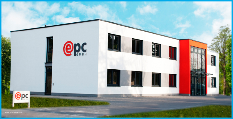Die Firmenzentrale der epc GmbH in Nienburg - ein modernes Bürogebäude.